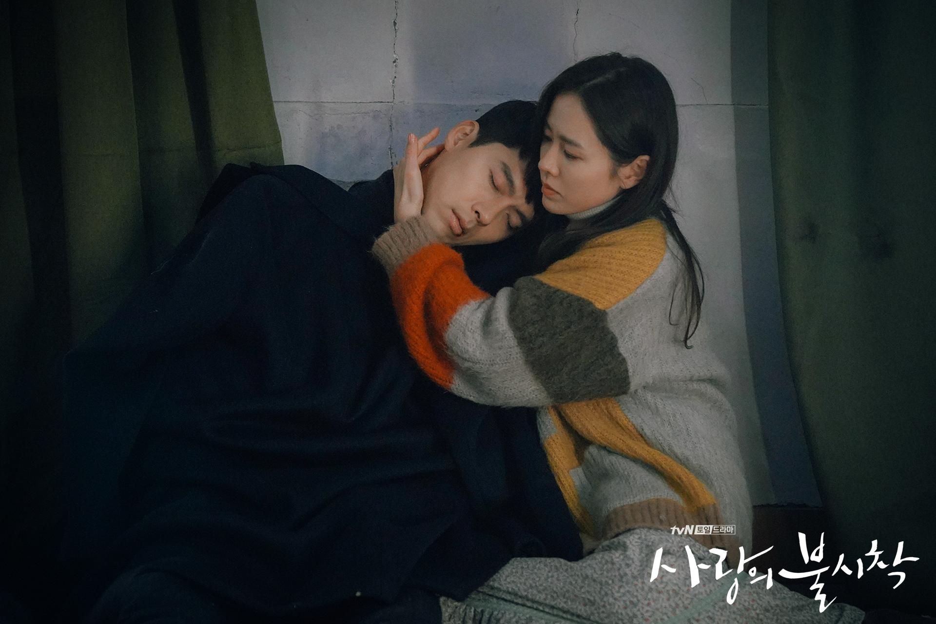 Crash Landing on You Captain Ri Jeong-hyeok leaning on Yoon Se-ri episode 8