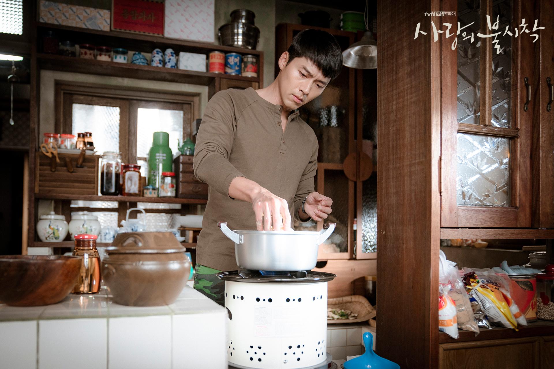 Crash Landing on You Captain Ri Jeong-hyeok cooking for Yoon Se-ri