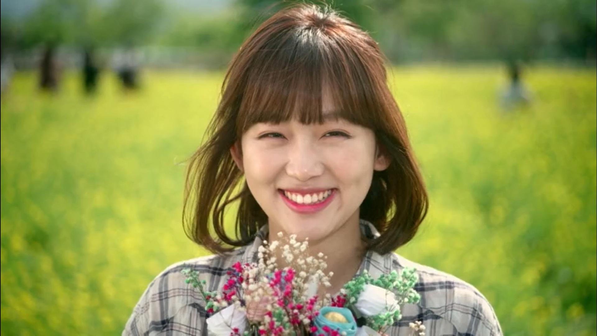 Wednesday 3:30 PM Seon Eun-woo with flowers