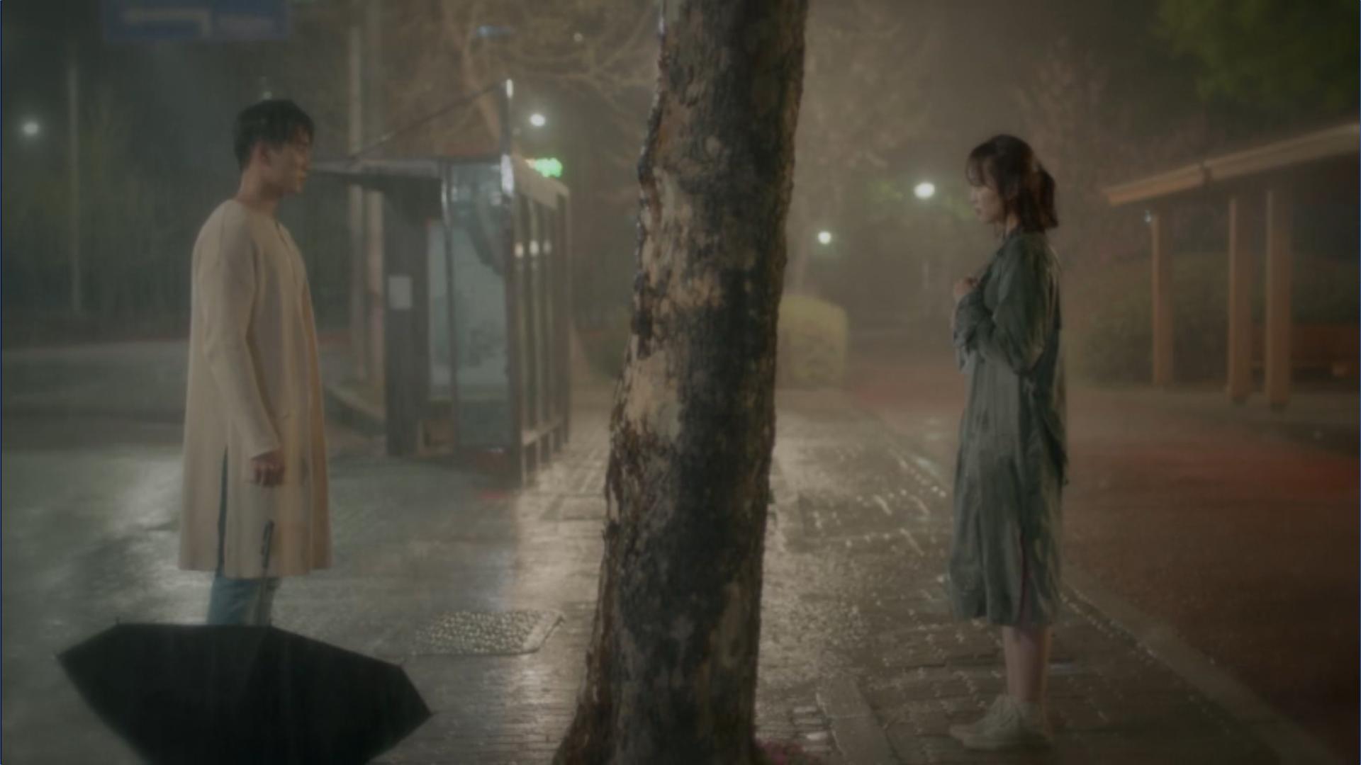 Wednesday 3:30 PM Seon Eun-woo and Baek Seung-gyu in the rain