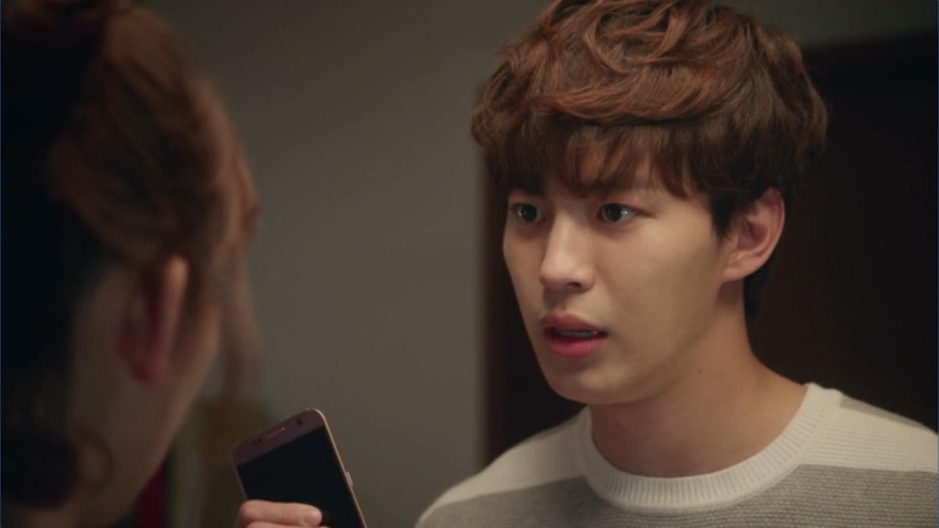 Wednesday 3:30 PM Yoon Jae-won grabbing Seon Eun-woo's phone