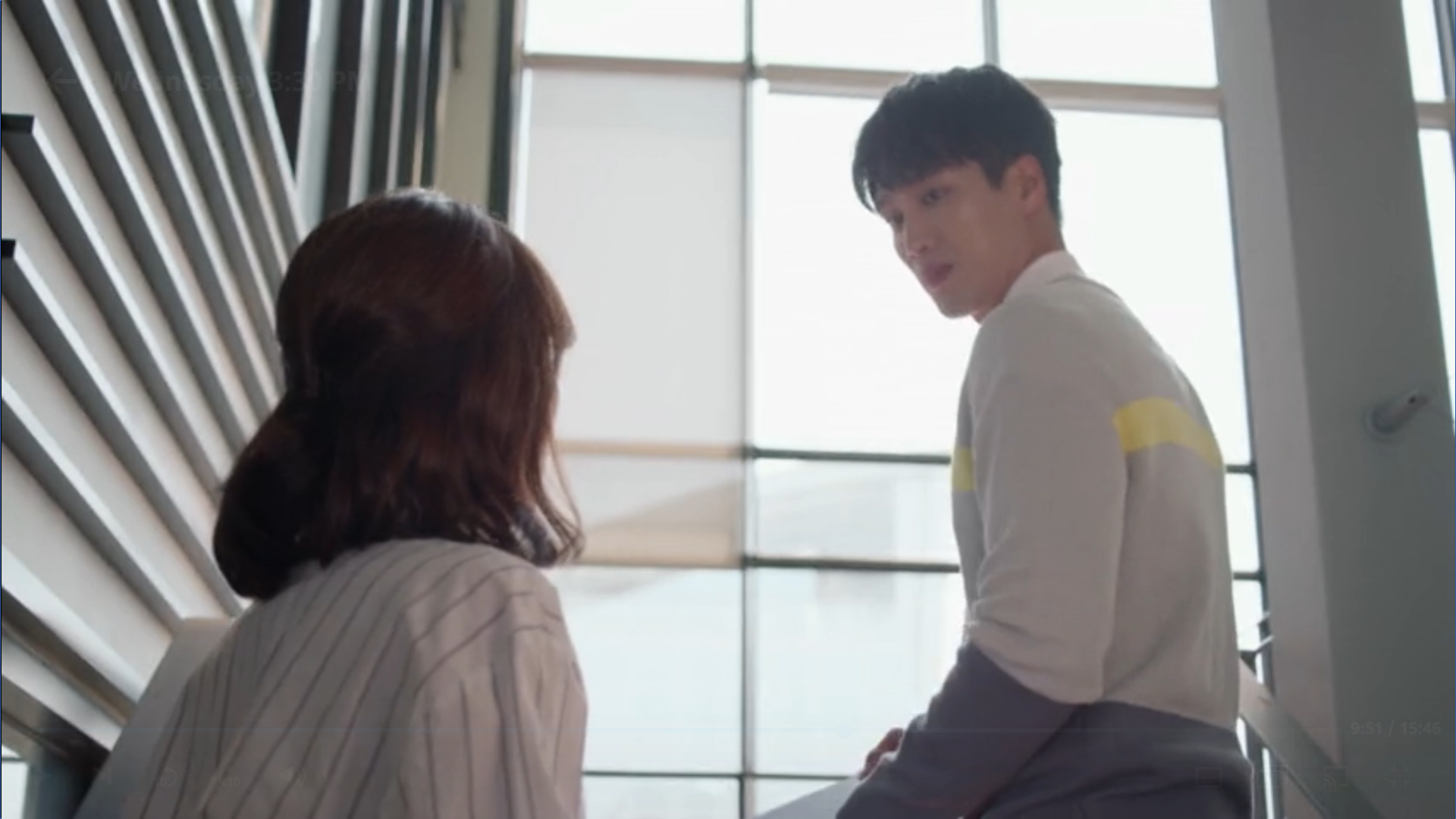 Wednesday 3:30 PM Seon Eun-woo talking to Baek Seung-gyu