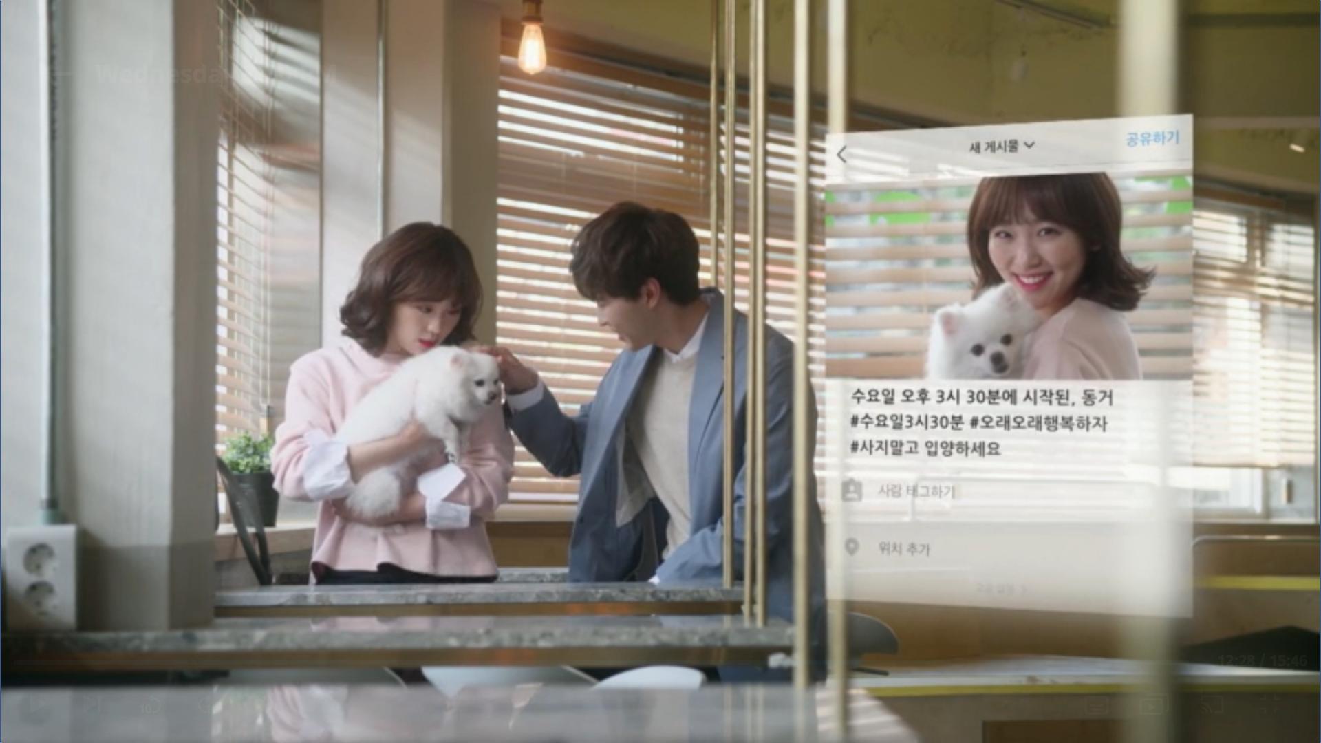 Wednesday 3:30 PM Yoon Jae-won and Seon Eun-woo holding dog Huchu