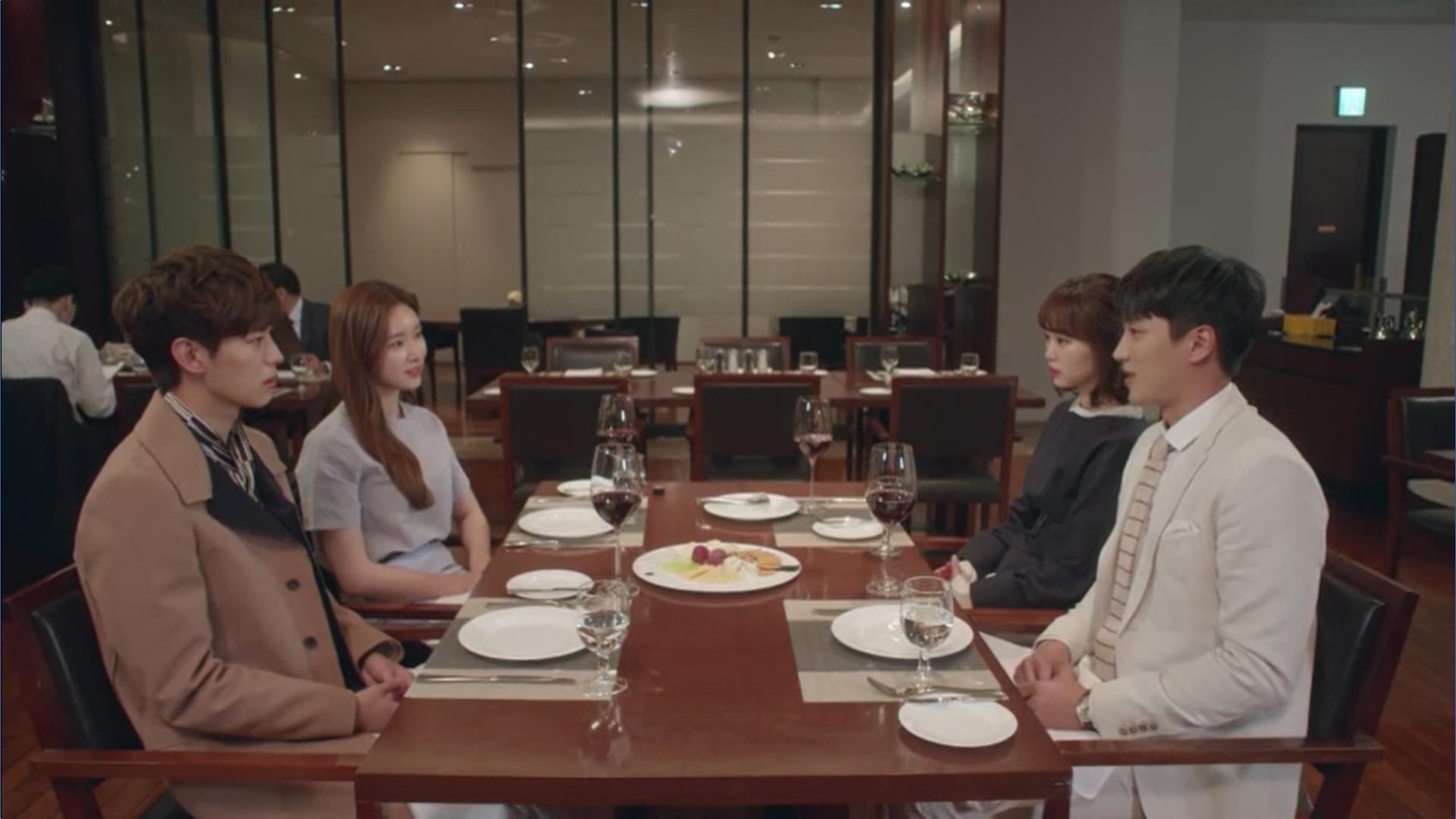 Wednesday 3:30 PM Yoon Jae-won, Seon Eun-woo, Baek Seung-gyu, and Gong Na-yeon at dinner