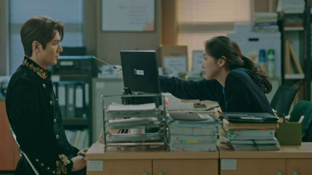 The King: Eternal Monarch King Lee Gon and Lieutenant Jung Tae-eul at police station swab