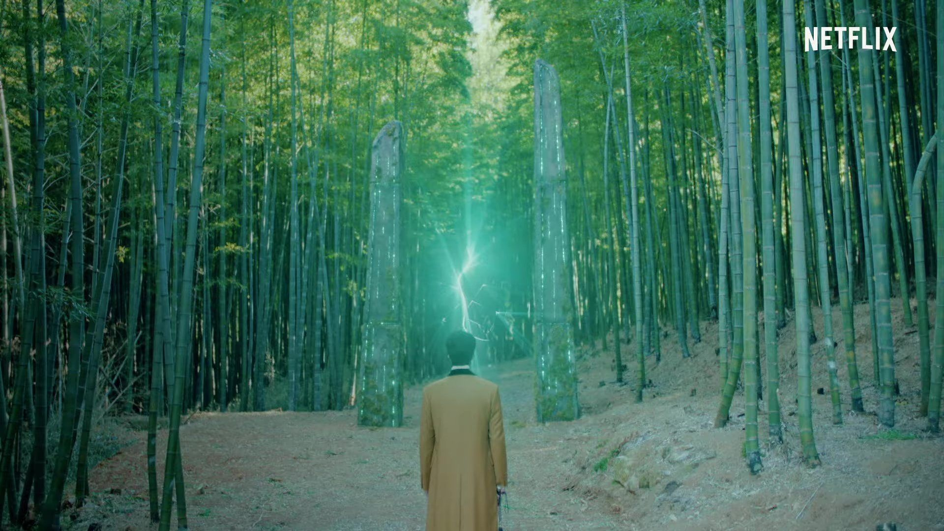 The King: Eternal Monarch King Lee Gon opening the portal with the flute in bamboo forest