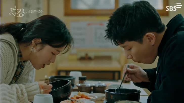 The King: Eternal Monarch King Lee Gon, Detective Shin-jae and Lieutenant Jung Tae-eul eating