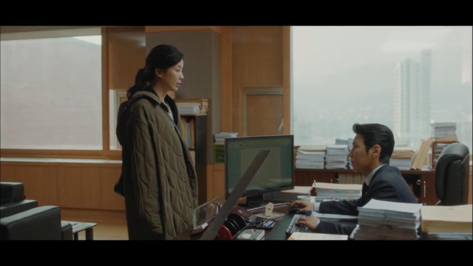 When My Love Blooms Episode 2 Yoon Ji-soo talking to Lee Se-hoon in office