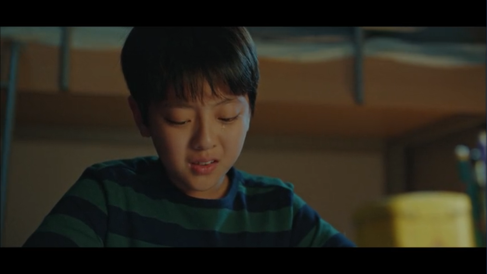 When My Love Blooms Episode 2 Lee Young-min crying in room ripped book