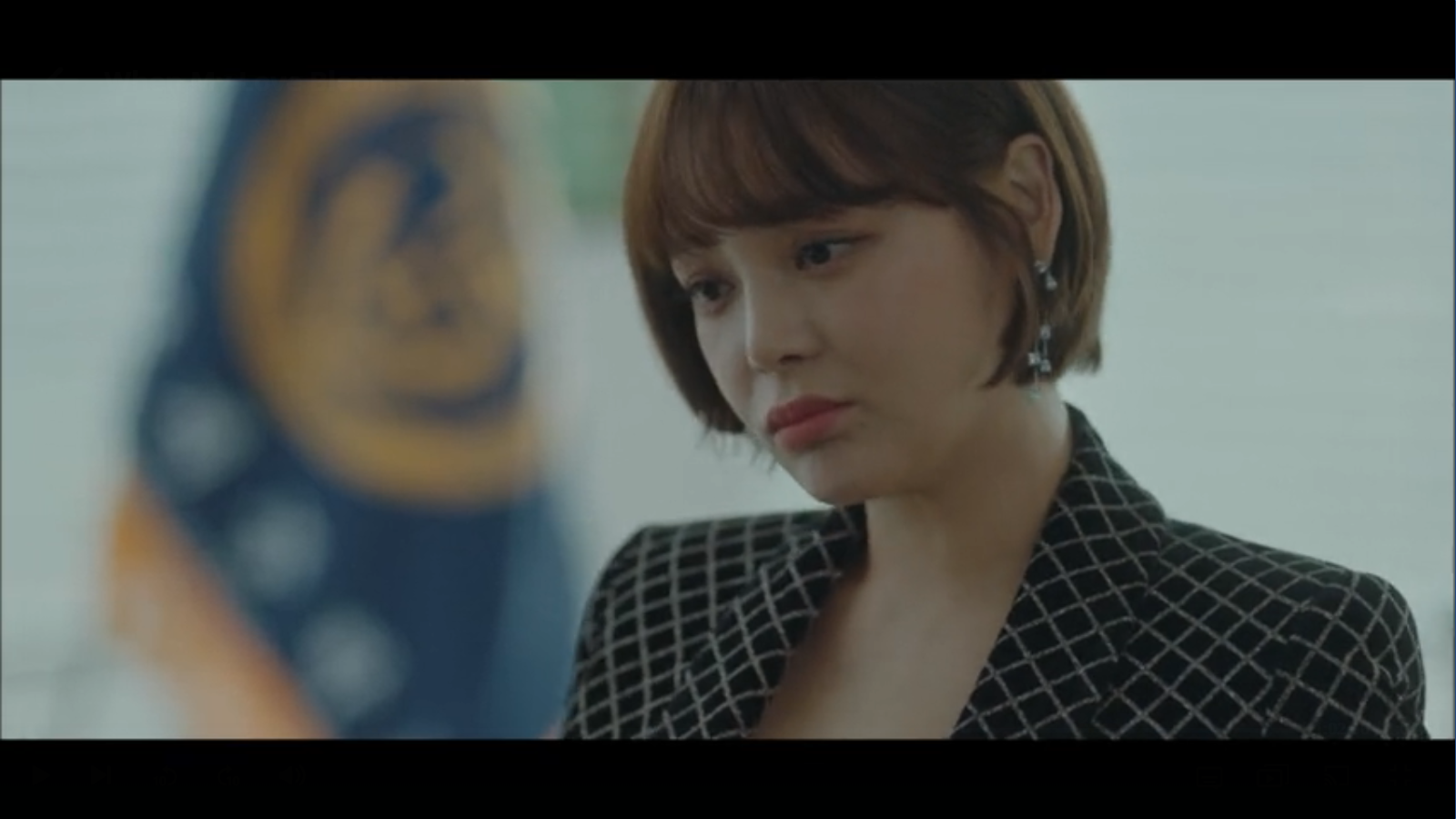 When My Love Blooms Episode 2 Seo Kyung standing in school office